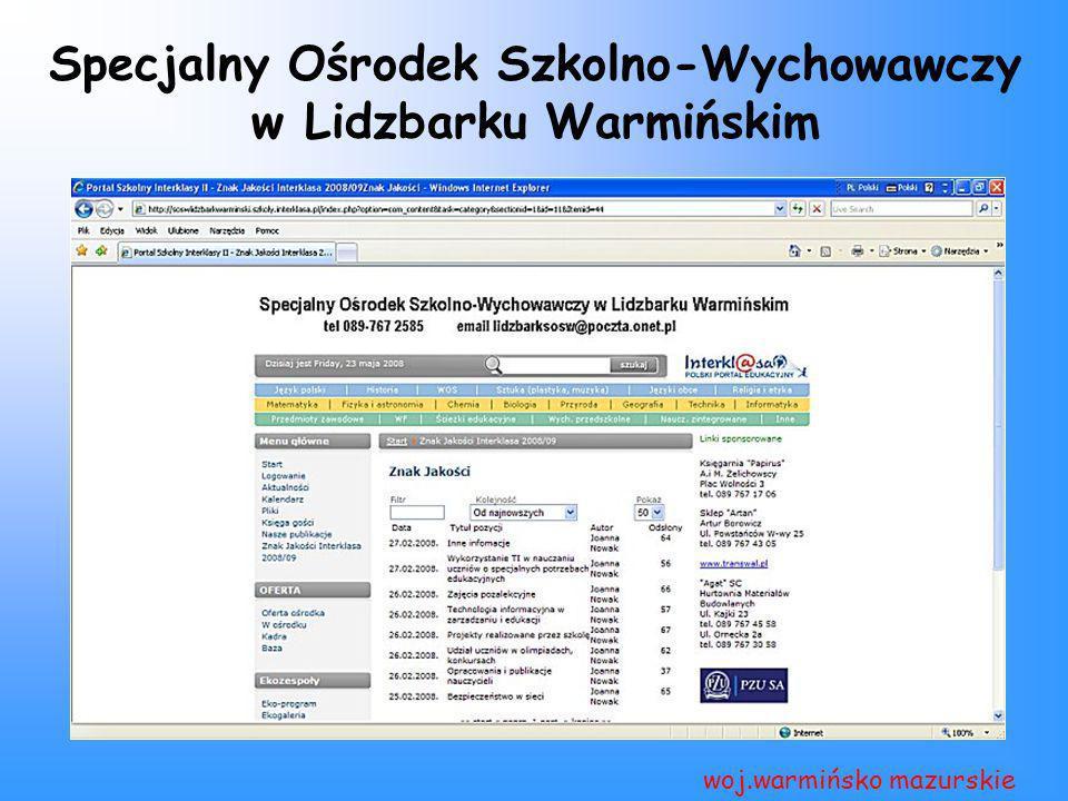 Specjalny Ośrodek Szkolno-Wychowawczy w Lidzbarku Warmińskim woj.warmińsko mazurskie