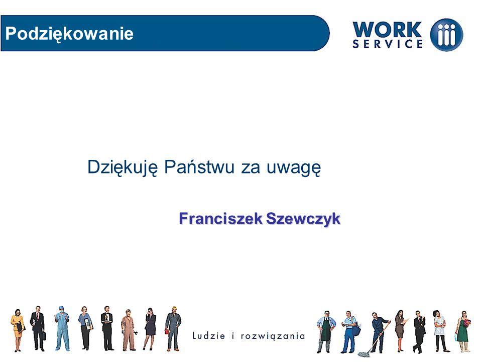 Podziękowanie Dziękuję Państwu za uwagę Franciszek Szewczyk Franciszek Szewczyk