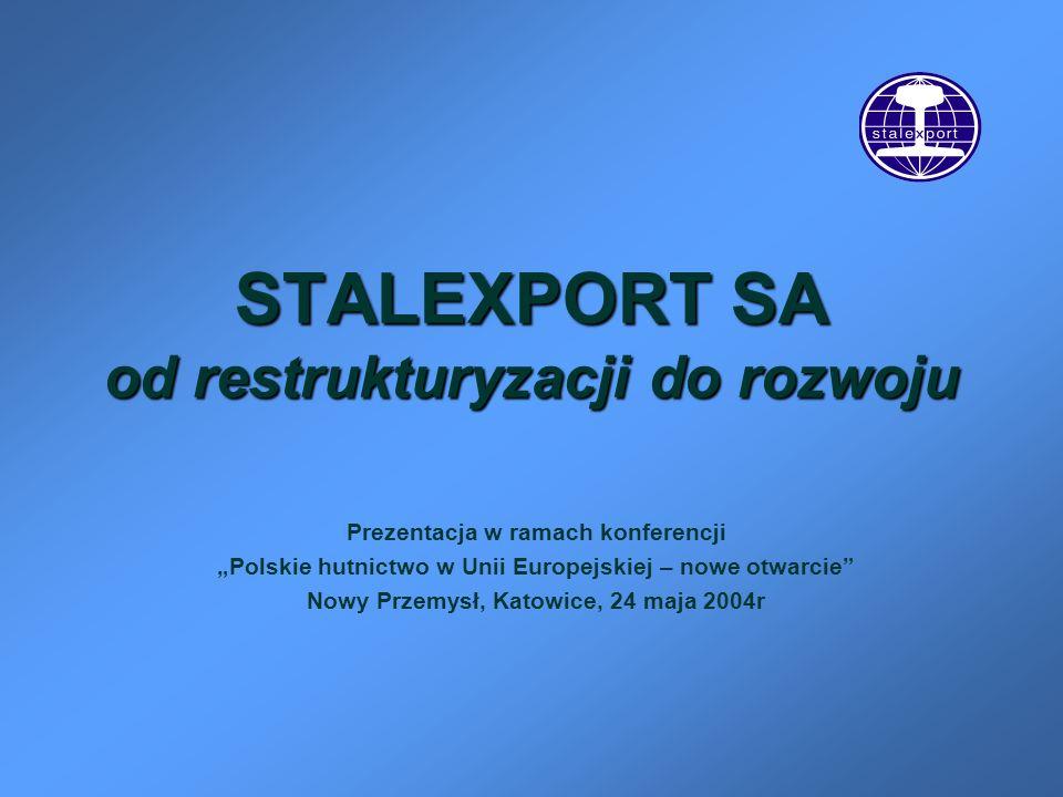 STALEXPORT SA od restrukturyzacji do rozwoju Prezentacja w ramach konferencji Polskie hutnictwo w Unii Europejskiej – nowe otwarcie Nowy Przemysł, Kat