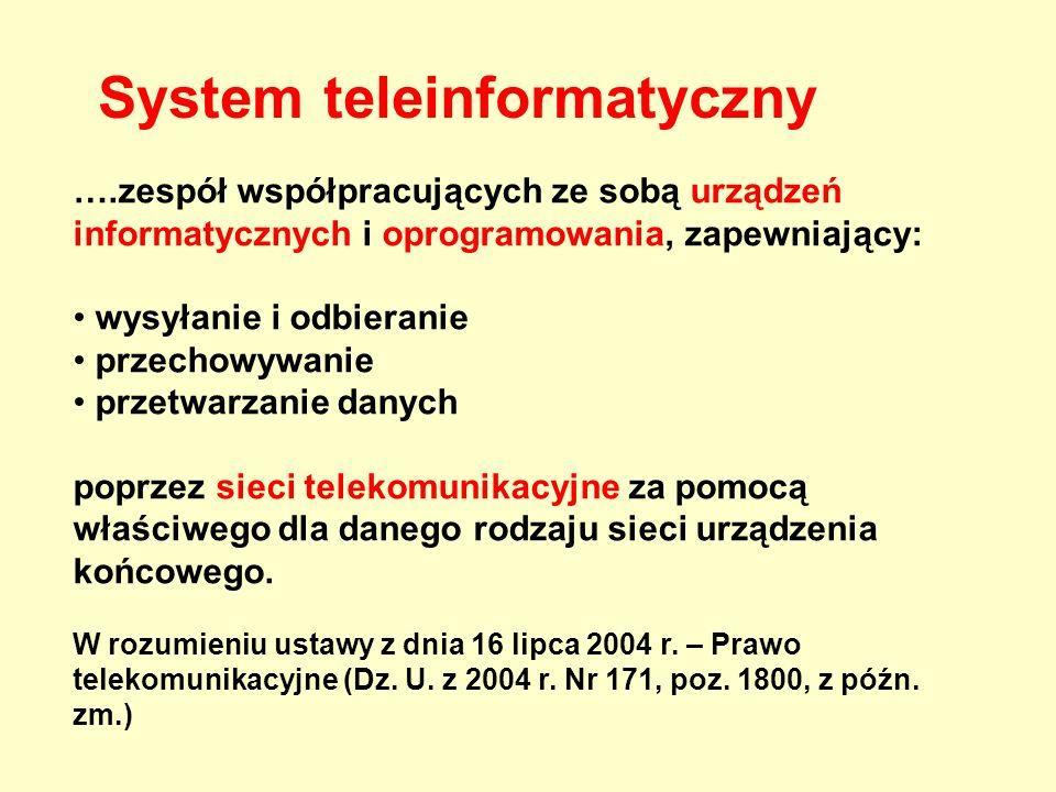 Telekomunikacja - transmisja informacji przy pomocy procesów: -model myślowy w umyśle nadawcy (lub ew.