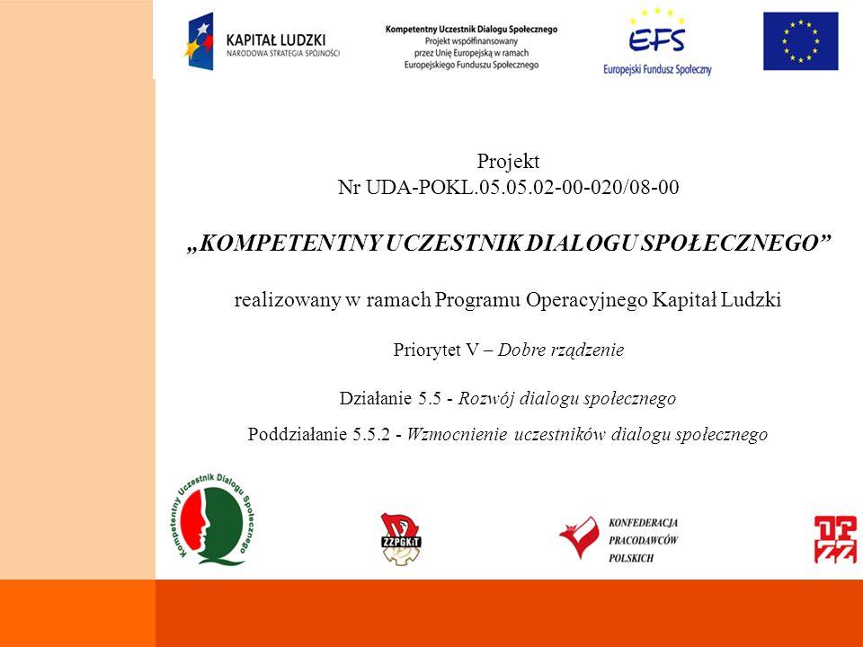 Opis sytuacji Poziom dialogu społecznego w Polsce jest ciągle jeszcze stosunkowo niski w porównaniu z krajami starej 15, a w szczególności z krajami skandynawskimi.