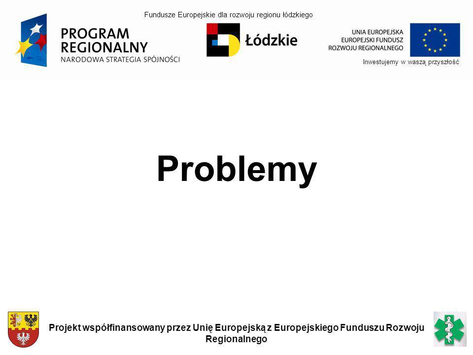 Inwestujemy w waszą przyszłość Projekt współfinansowany przez Unię Europejską z Europejskiego Funduszu Rozwoju Regionalnego Problemy Fundusze Europejs