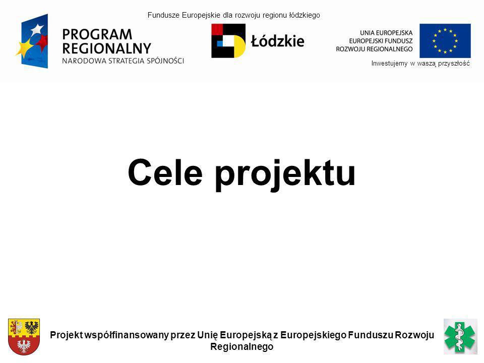 Inwestujemy w waszą przyszłość Projekt współfinansowany przez Unię Europejską z Europejskiego Funduszu Rozwoju Regionalnego Cele projektu Fundusze Eur