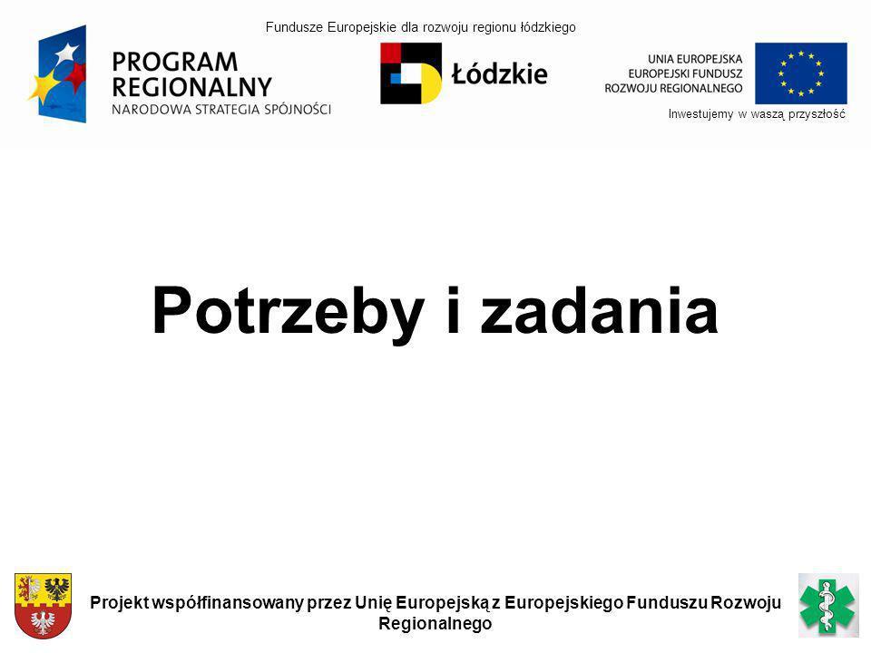 Inwestujemy w waszą przyszłość Projekt współfinansowany przez Unię Europejską z Europejskiego Funduszu Rozwoju Regionalnego Potrzeby i zadania Fundusz
