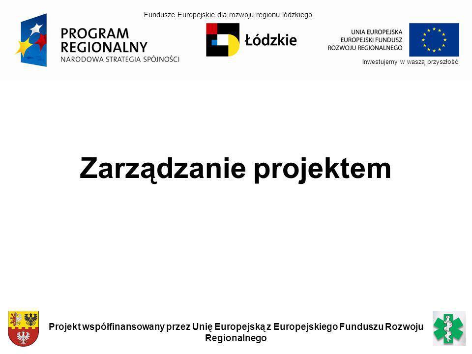 Inwestujemy w waszą przyszłość Projekt współfinansowany przez Unię Europejską z Europejskiego Funduszu Rozwoju Regionalnego Zarządzanie projektem Fund