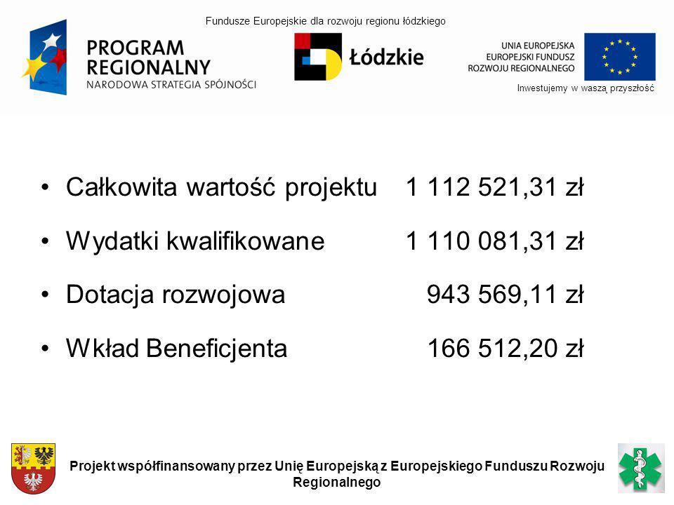 Okres realizacji projektu 31.01.2007 – 30.11.2010 Inwestujemy w waszą przyszłość Projekt współfinansowany przez Unię Europejską z Europejskiego Funduszu Rozwoju Regionalnego Fundusze Europejskie dla rozwoju regionu łódzkiego