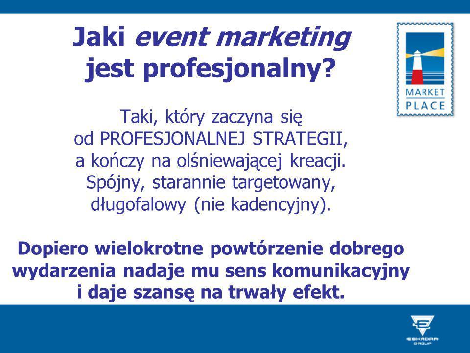 Jaki event marketing jest profesjonalny? Taki, który zaczyna się od PROFESJONALNEJ STRATEGII, a kończy na olśniewającej kreacji. Spójny, starannie tar