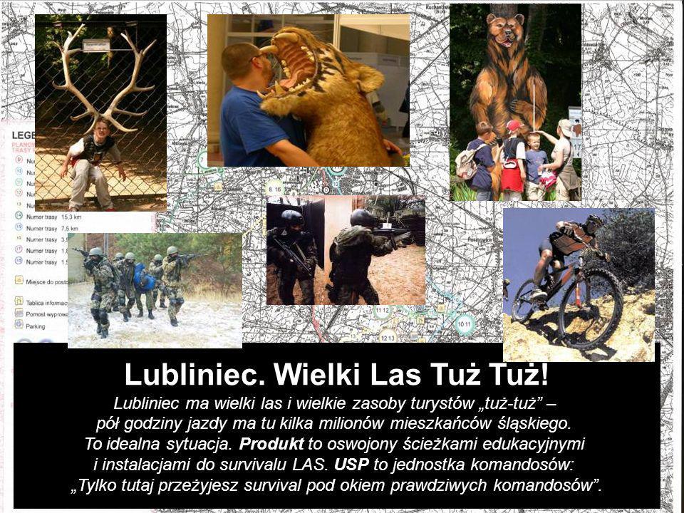 Lubliniec. Wielki Las Tuż Tuż! Lubliniec ma wielki las i wielkie zasoby turystów tuż-tuż – pół godziny jazdy ma tu kilka milionów mieszkańców śląskieg