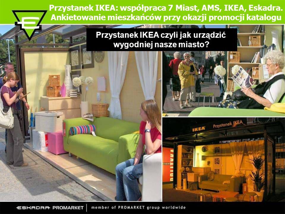 Przystanek IKEA: współpraca 7 Miast, AMS, IKEA, Eskadra. Ankietowanie mieszkańców przy okazji promocji katalogu Przystanek IKEA czyli jak urządzić wyg