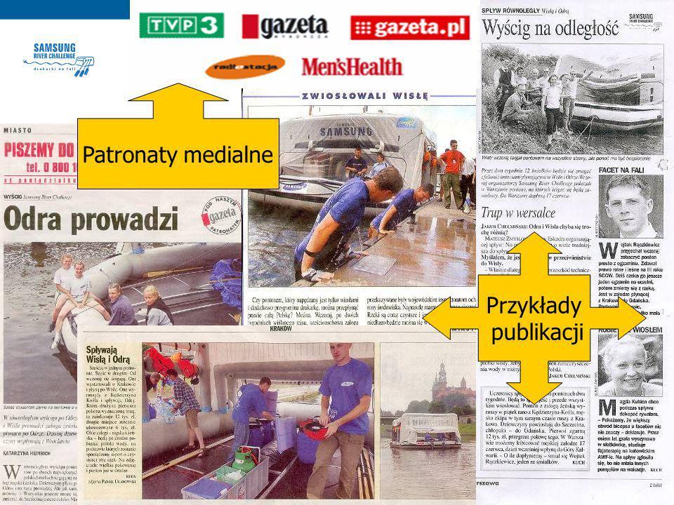 PATRONATY MEDIALNE Przykłady publikacji Patronaty medialne
