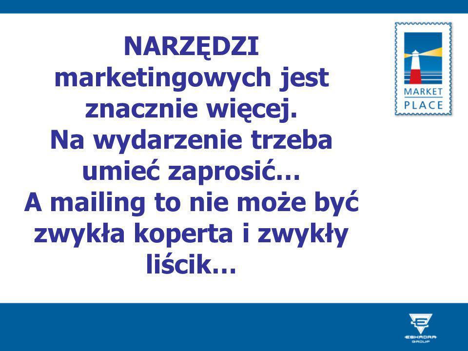 NARZĘDZI marketingowych jest znacznie więcej.