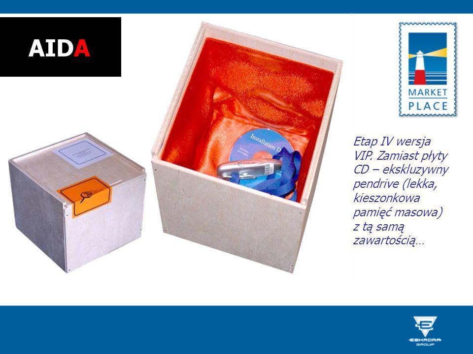 Etap IV wersja VIP. Zamiast płyty CD – ekskluzywny pendrive (lekka, kieszonkowa pamięć masowa) z tą samą zawartością… AIDA