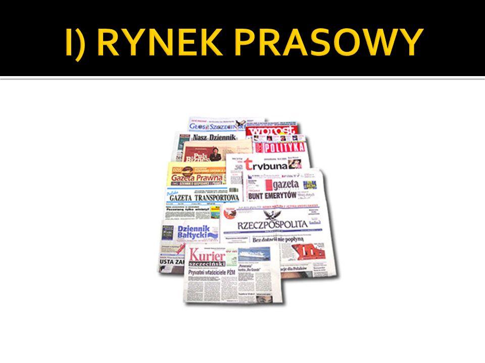 prywatyzacja sektora prasowego prawie całkowita prywatyzacja sektora prasowego (1.przekazanie pisma na poczet skarbu państwa; 2.