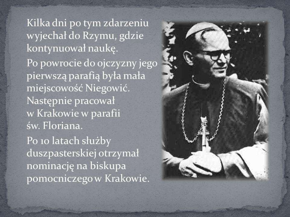 Po sześciu latach Karol Wojtyła został mianowany arcybiskupem ordynariuszem krakowskim.