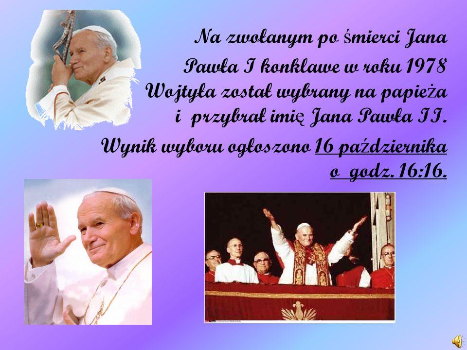 30 grudnia 1963 r. Karol Wojtyła został mianowany arcybiskupem metropolit ą krakowskim. Podczas konsystorza 26 czerwca 1967 r. został nominowany kardy