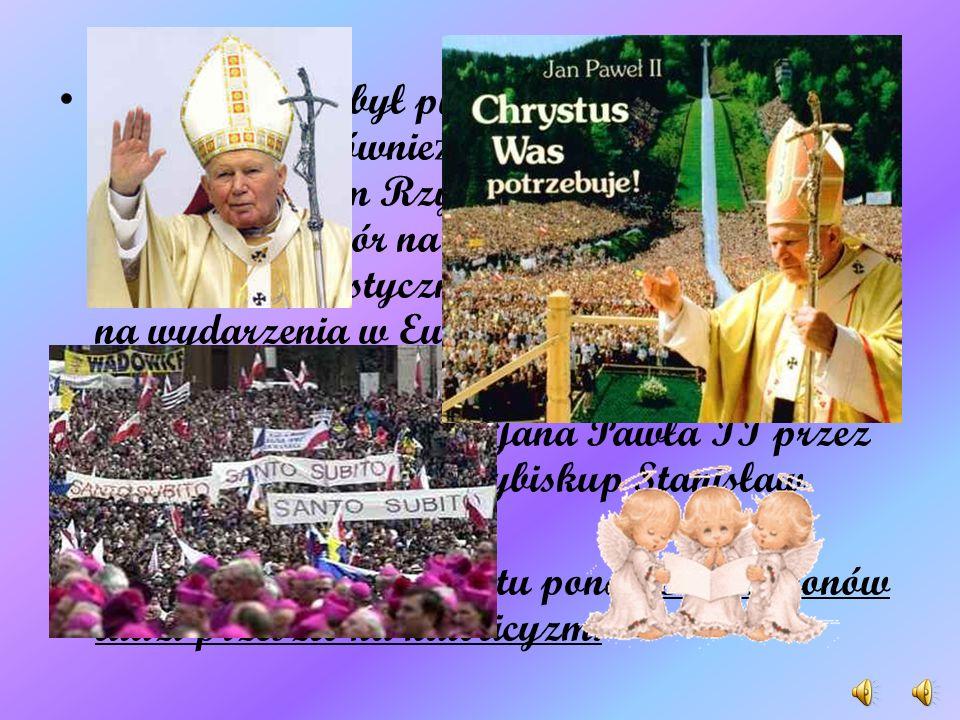 Na zwołanym po ś mierci Jana Pawła I konklawe w roku 1978 Wojtyła został wybrany na papie ż a i przybrał imi ę Jana Pawła II. Wynik wyboru ogłoszono 1