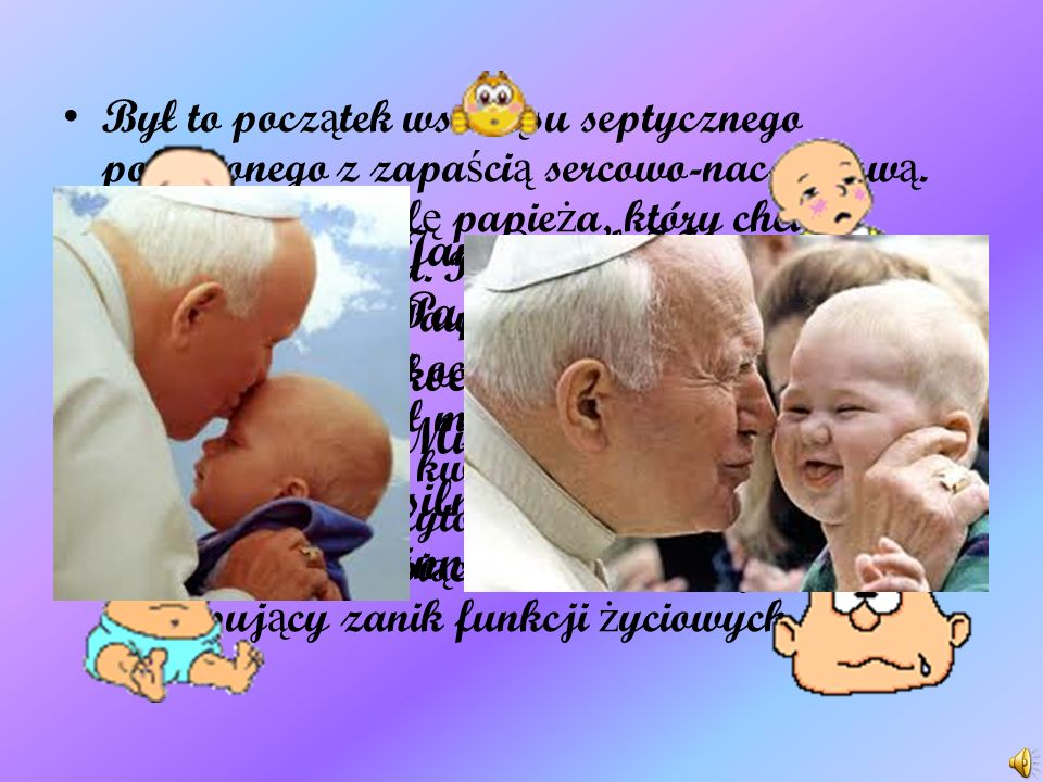Jan Paweł II od pocz ą tku lat 90. cierpiał na post ę puj ą c ą chorob ę Parkinsona. Mimo licznych spekulacji i sugestii ust ą pienia z funkcji, które
