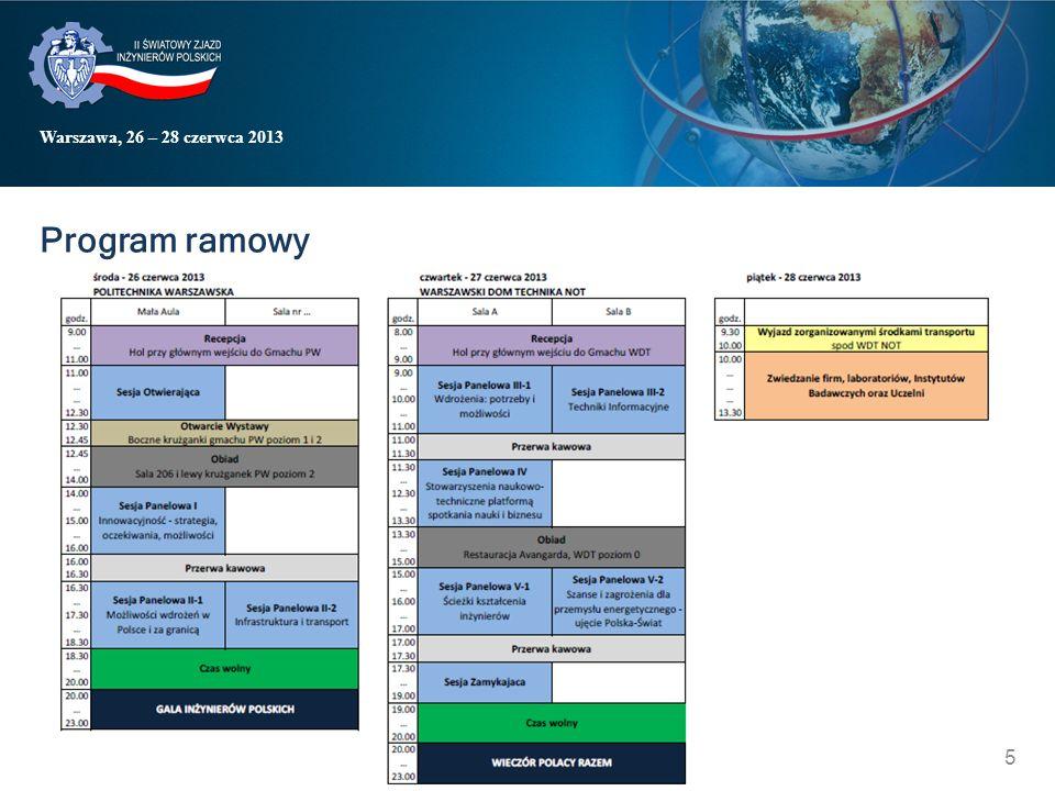Warszawa, 26 – 28 czerwca 2013 Program ramowy 5