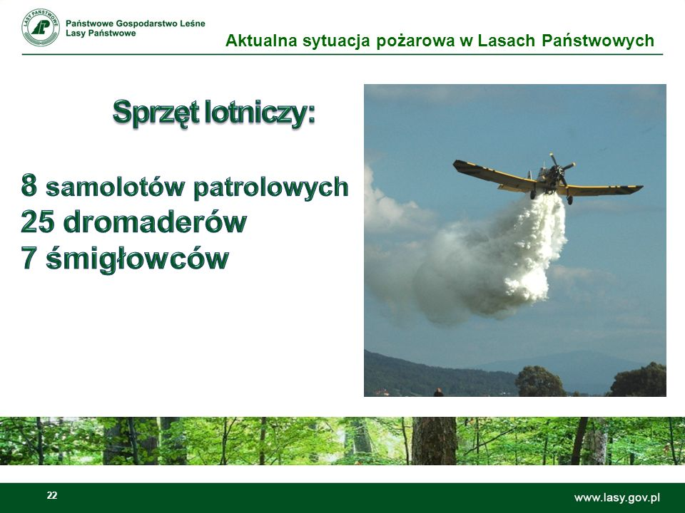 23 W jednostkach organizacyjnych Lasów Państwowych sieć tę tworzą punkty alarmowo-dyspozycyjne (PAD).