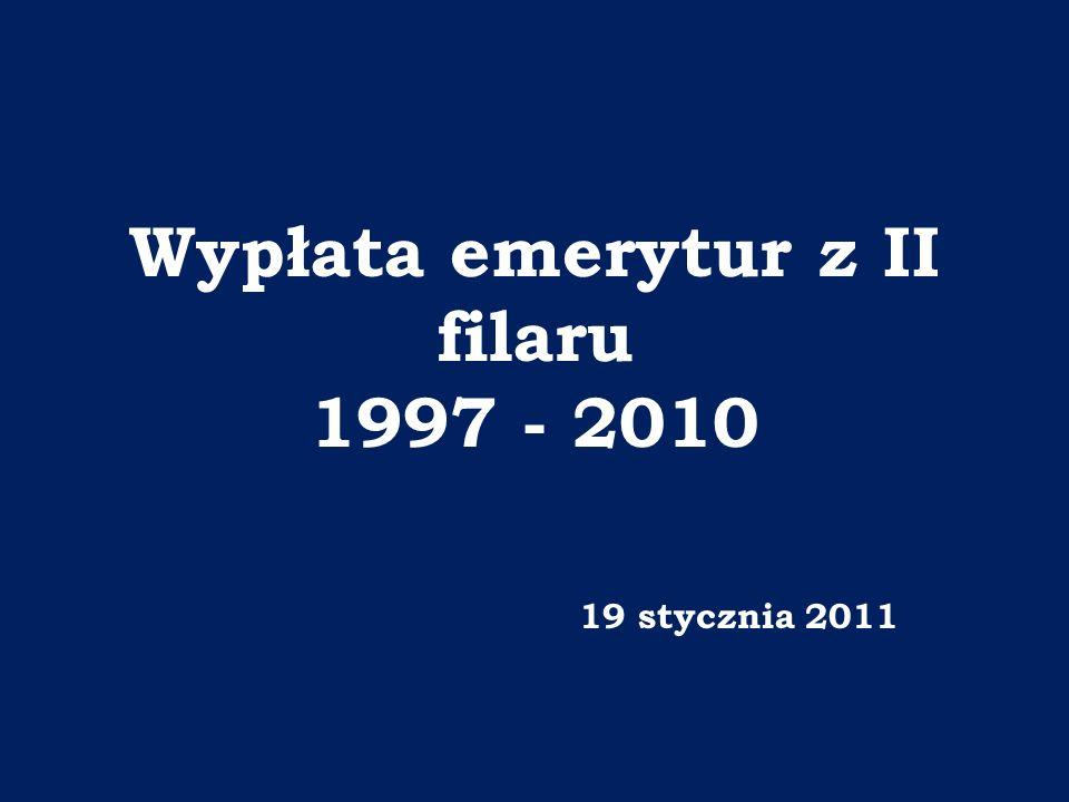 Wypłata emerytur z II filaru 1997 - 2010 19 stycznia 2011