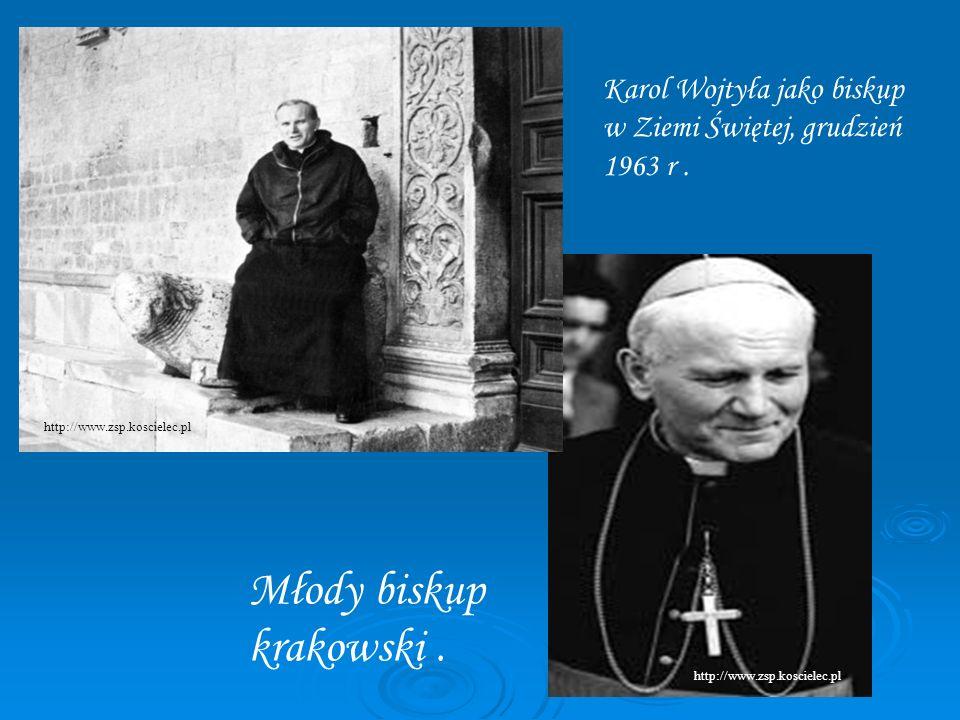 Karol Wojtyła jako biskup w Ziemi Świętej, grudzień 1963 r. Młody biskup krakowski. http://www.zsp.koscielec.pl