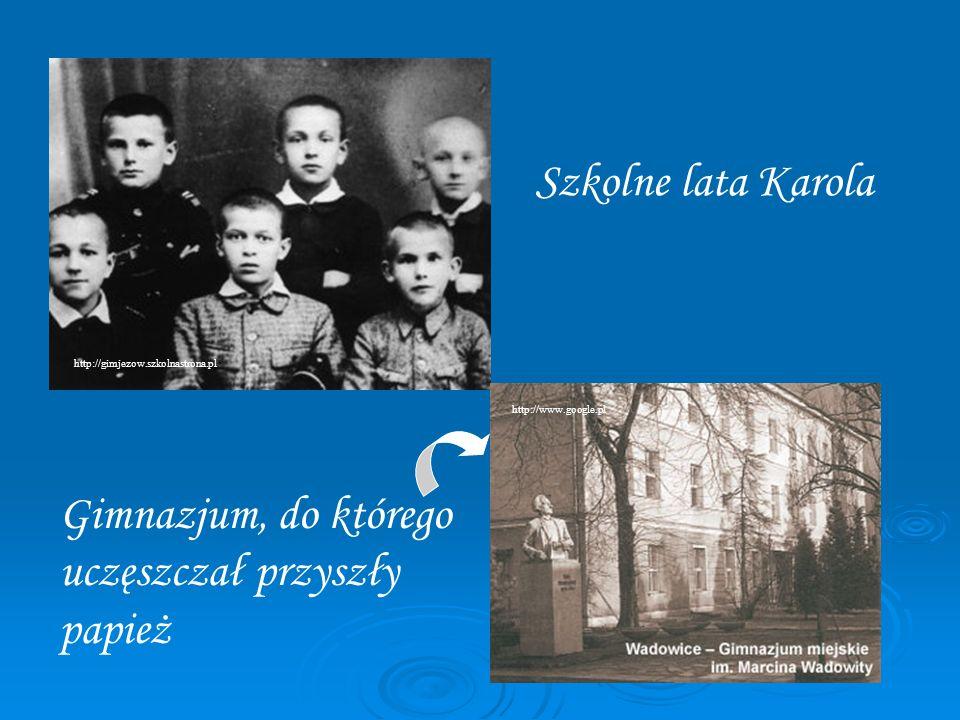 Karol Wojtyła podczas wojny Wojna odebrała Karolowi Wojtyle możliwość kontynuowania studiów, zaczął więc pracować jako pracownik fizyczny w zakładach chemicznych Solvay.