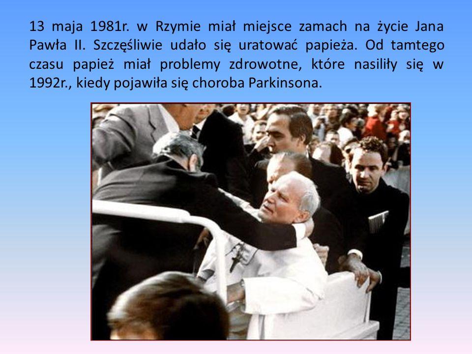 16 października 1978 Karol Wojtyłą wybrany został na papieża (jako pierwszy od 458 lat papież, spoza Italii), przyjął imię Jan Paweł II na cześć poprz
