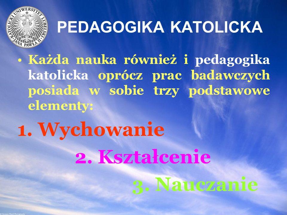 Czym jest więc pedagogika katolicka.1.