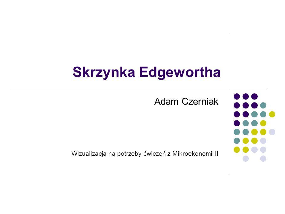 Skrzynka Edgewortha Adam Czerniak Wizualizacja na potrzeby ćwiczeń z Mikroekonomii II