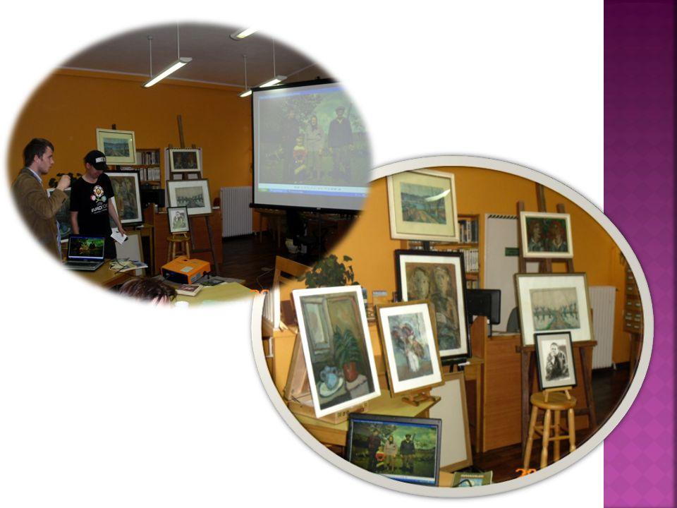 W przedsionku Czytelni Popularnonaukowej zorganizowano cykl ekspozycji o wybitnych poetach XX wieku.