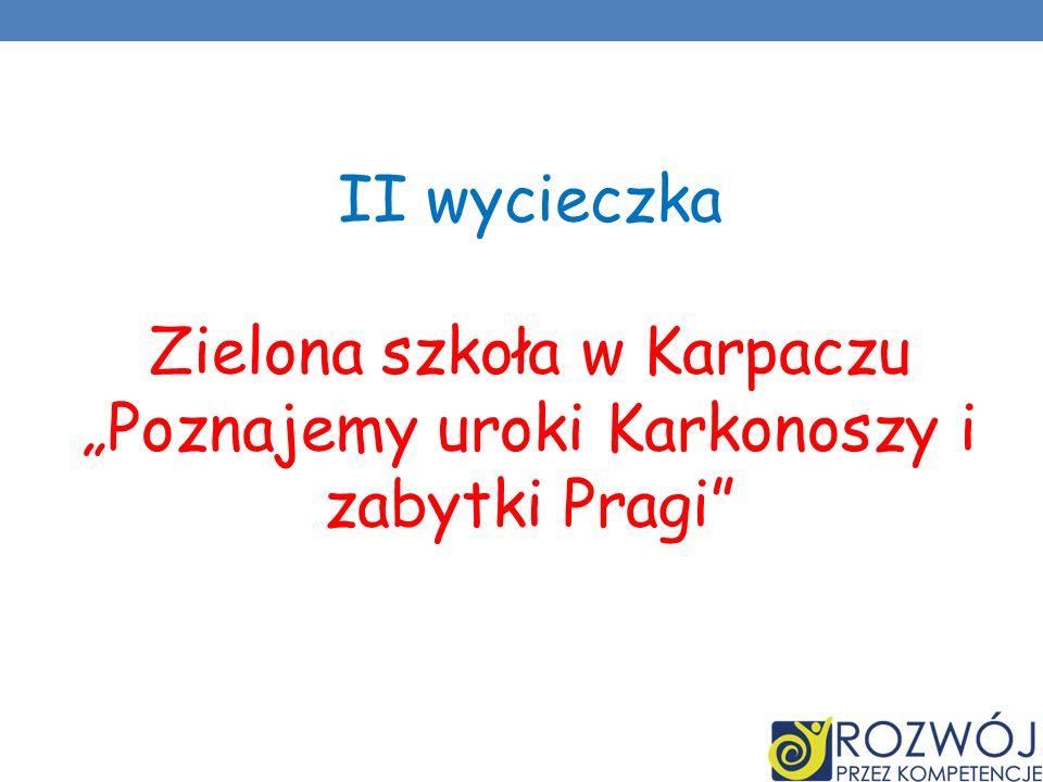 II wycieczka Zielona szkoła w Karpaczu Poznajemy uroki Karkonoszy i zabytki Pragi