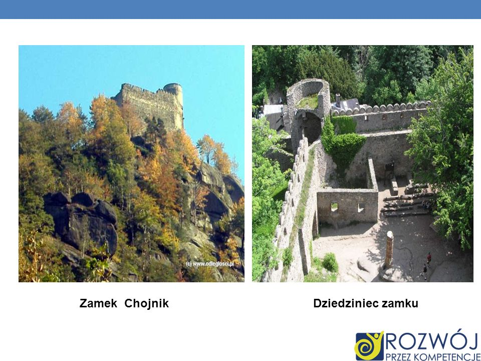 Zamek ChojnikDziedziniec zamku
