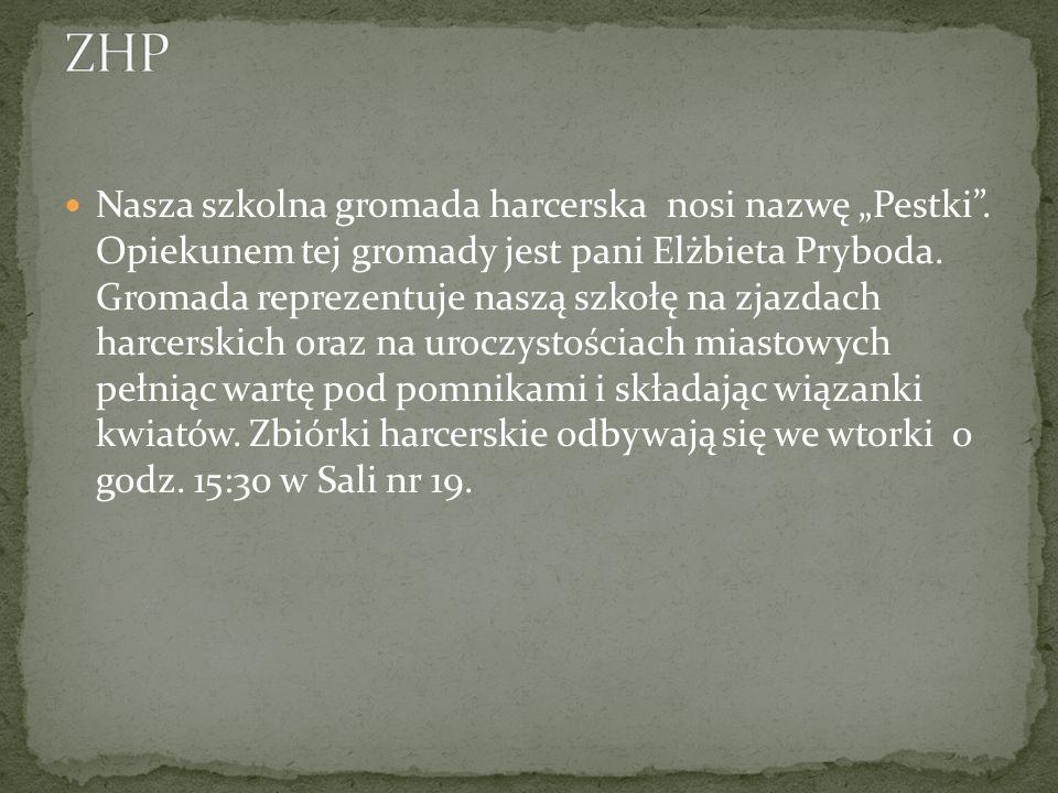 Działająca w naszej szkole organizacja ogólnokrajowa Polski Czerwony Krzyż. Opiekunem tej organizacji jest pani Joanna Springer. Zajęcia odbywają się