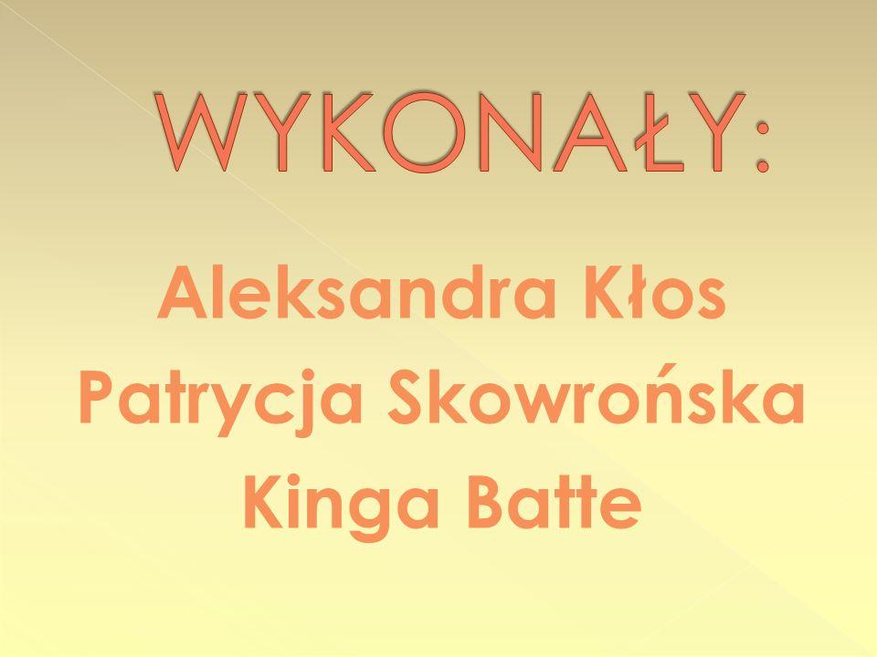 Aleksandra Kłos Patrycja Skowrońska Kinga Batte
