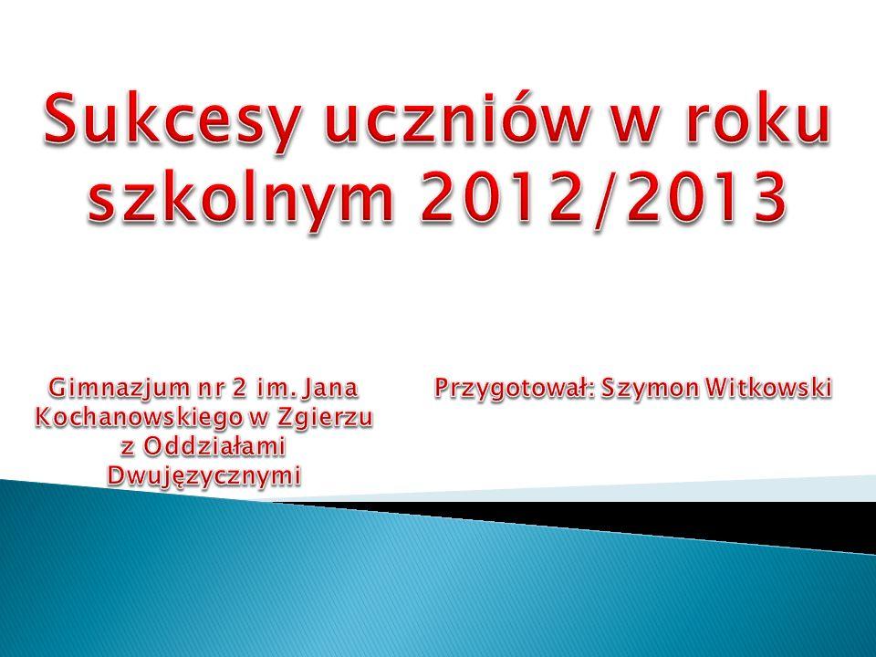 Michalina Barylska (II a) laureatka XV Wojewódzkiego Konkursu Poetyckiego im.