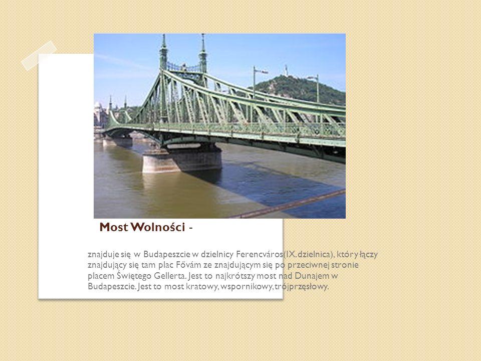 Most Wolności - znajduje się w Budapeszcie w dzielnicy Ferencváros(IX.