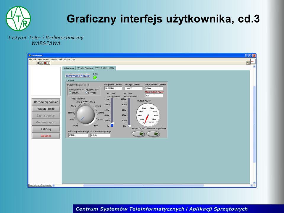 Instytut Tele- i Radiotechniczny WARSZAWA Graficzny interfejs użytkownika, cd.3