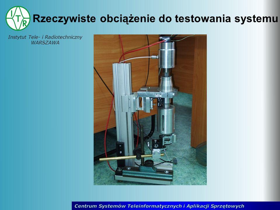 Instytut Tele- i Radiotechniczny WARSZAWA Rzeczywiste obciążenie do testowania systemu