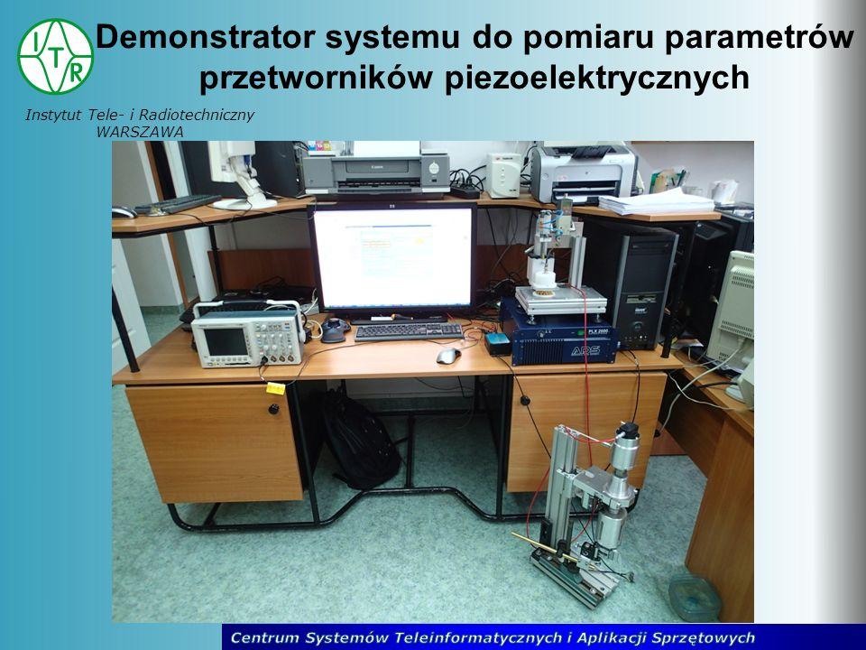 Instytut Tele- i Radiotechniczny WARSZAWA Demonstrator systemu do pomiaru parametrów przetworników piezoelektrycznych