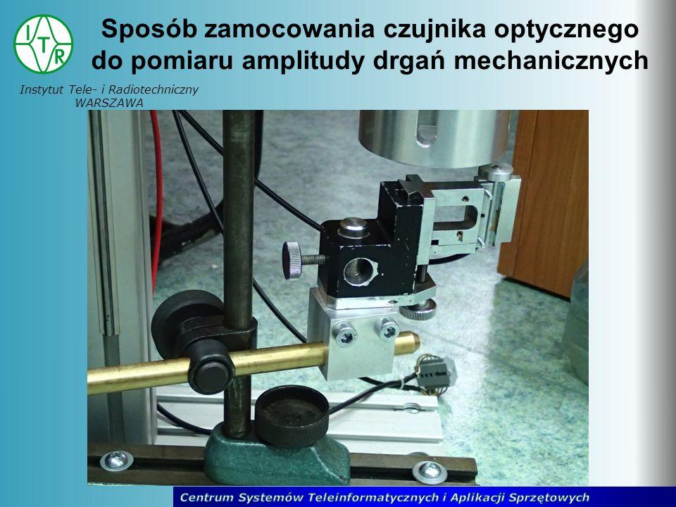 Instytut Tele- i Radiotechniczny WARSZAWA Sposób zamocowania czujnika optycznego do pomiaru amplitudy drgań mechanicznych