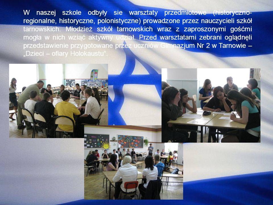 W naszej szkole odbyły sie warsztaty przedmiotowe (historyczno- regionalne, historyczne, polonistyczne) prowadzone przez nauczycieli szkół tarnowskich