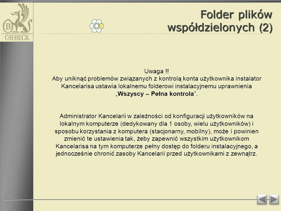 Folder plików współdzielonych (2) Uwaga !.
