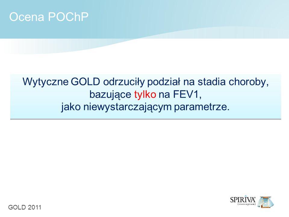 Wytyczne GOLD odrzuciły podział na stadia choroby, bazujące tylko na FEV1, jako niewystarczającym parametrze.