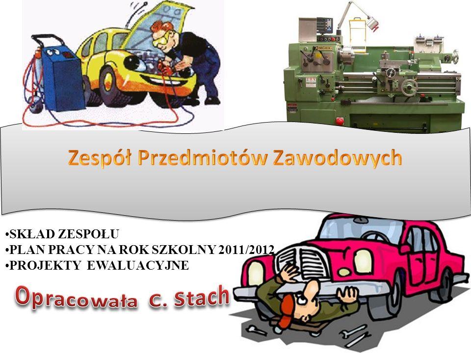 SKŁAD ZESPOŁU PLAN PRACY NA ROK SZKOLNY 2011/2012 PROJEKTY EWALUACYJNE