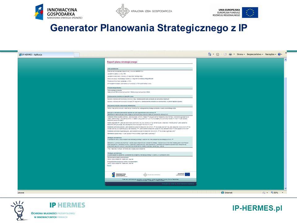 IP-HERMES.pl Generator Planowania Strategicznego z IP