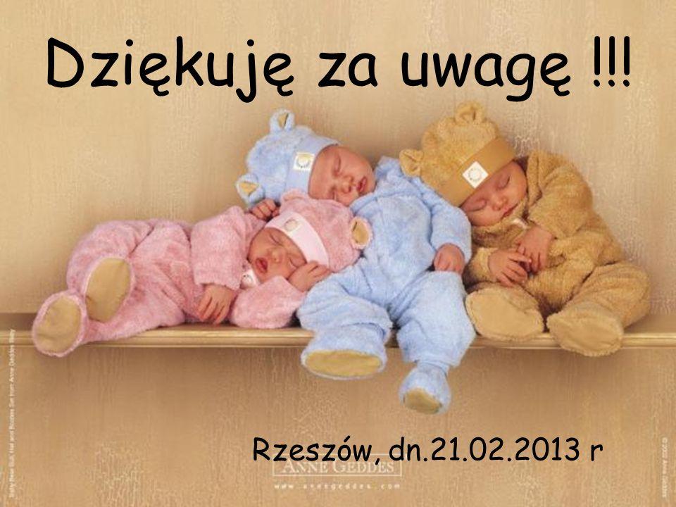 Dziękuję za uwagę !!! Rzeszów, dn.21.02.2013 r