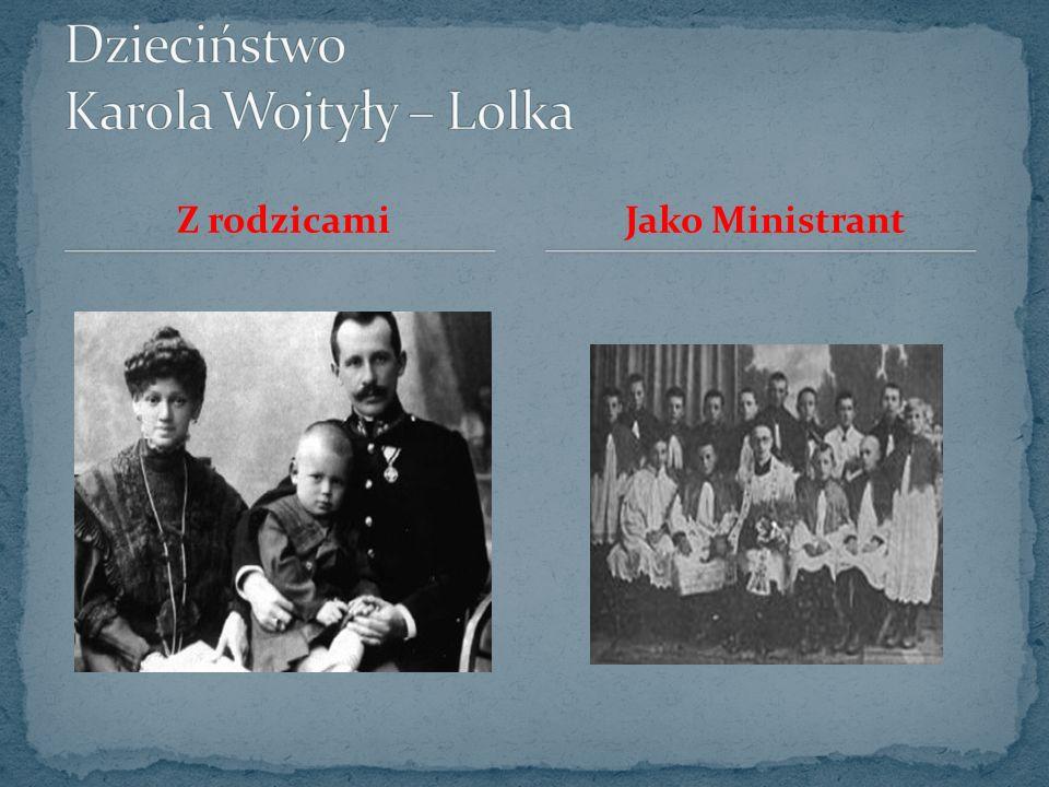 Karol Wojtyła urodził się w Wadowicach jako drugi syn Karola Wojtyły i Emilii z domu Kaczorowskich.