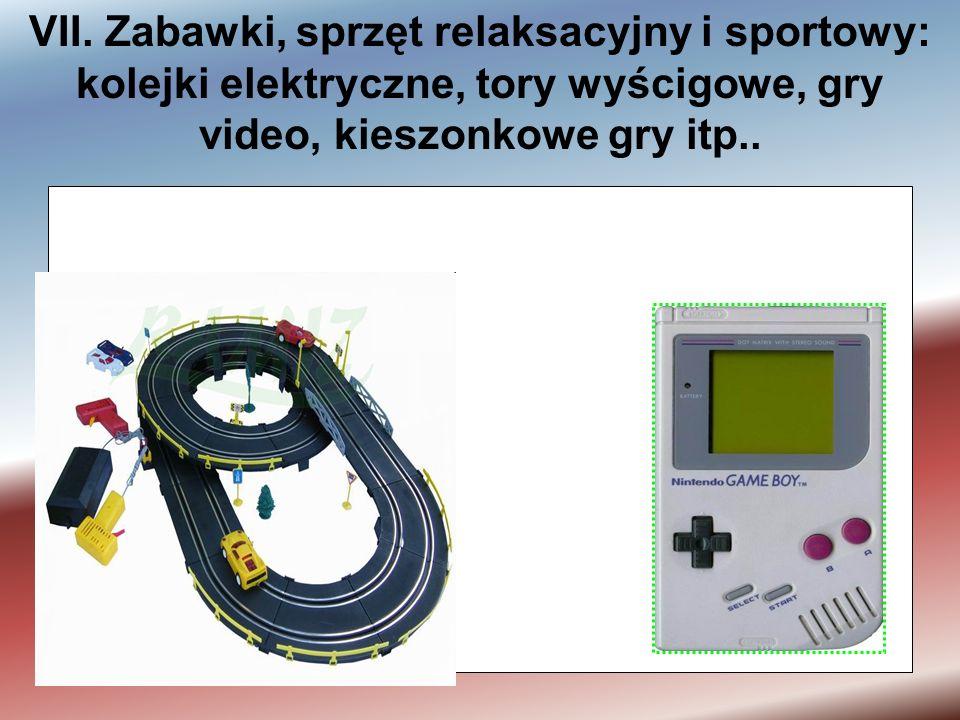 VI. Narzędzia elektryczne i elektroniczne: wiertarki, piły, maszyny do szycia, narzędzia do obróbki drewna i metalu...