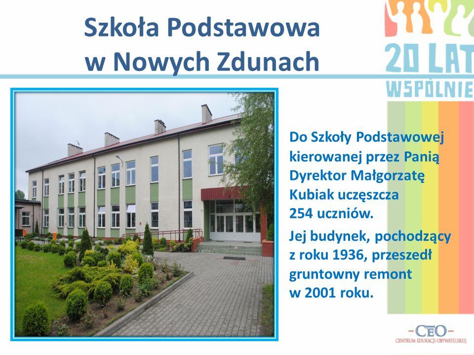 Szkoła Podstawowa w Nowych Zdunach Do Szkoły Podstawowej kierowanej przez Panią Dyrektor Małgorzatę Kubiak uczęszcza 254 uczniów.