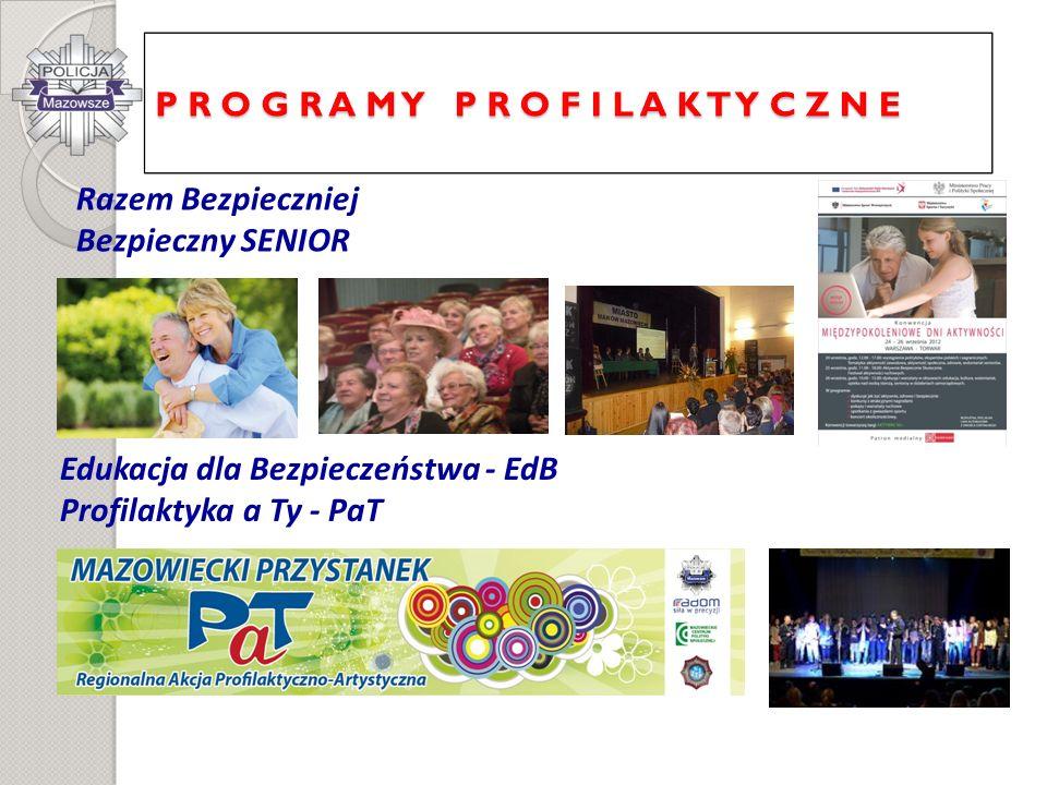 Razem Bezpieczniej Bezpieczny SENIOR Edukacja dla Bezpieczeństwa - EdB Profilaktyka a Ty - PaT